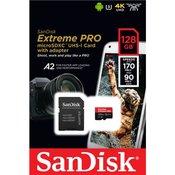 Memorijska kartica extreme pro microsdhc / microsdxc 128gb + adapter