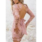 Ženska obleka ADABEL, roza