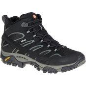 Merrell Moab 2 Mid Gtx, muške planinarske cipele, crna