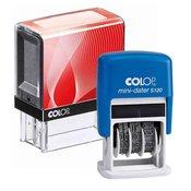 Štampiljka Colop Printer 20, črno-rdeče ohišje + datirka (4mm)-vaš odtis v ceni (38x14mm)