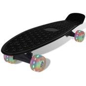 vidaXL Crni retro skateboard s LED kotacima