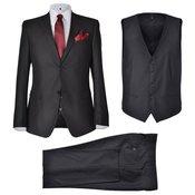 vidaXL Muško crno poslovno odijelo, Velicina 54