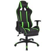 VIDAXL pisarniški stol s športnim sedežem in oporo za noge, zelen