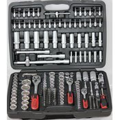 """1/4"""" + 3/8"""" + 1/2"""" komplet natičnih ključev. 179-delni 917.0779 ks tools"""