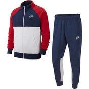 Nike M NSW CE TRK SUIT FLC, trenirka m., modra