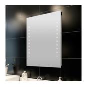 VIDAXL kopalniško ogledalo z LED luči stena 60 x 80 cm (D x H)