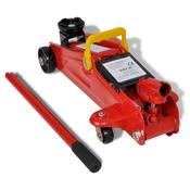 VIDAXL talno dvigalo/hidravlična dvigalka, rdeča