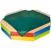 WOODY leseni peskovnik s pokrivalom