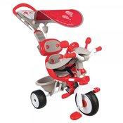 SMOBY tricikel s strešico Baby Driver Confort Red, rdeč