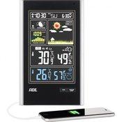 ADE Brezžična vremenska postaja z zunanjim senzorjem ADE WS 1600, črna