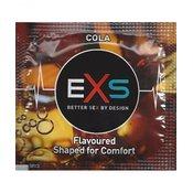 EXS Crazy Cola - lateks prezervativi crne boje sa okusom i mirisom Coca Cole, podmazani silikonskim lubrikantom