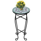 VIDAXL mizica z vzorcem mozaika, zeleno-bela