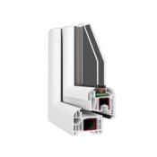 Enokrilna PVC vhodna vrata, 110x210