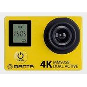 Aktivna športna kamera MANTA MM9358 DUAL ACTIVE, Premium, 4K-UHD,WiFI, Dvojni zaslon
