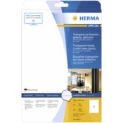 Herma Transparent Labels 210x297 25 Sheets DIN A4 25 pcs. 8020