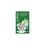 CLIPPER zeleni čaj z gingsengom in malino