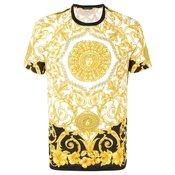 Versace - baroque print T-shirt - men - Yellow