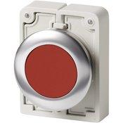 Eaton Tlačni prekidač plosnat, okrugao , kromirani Crvena Eaton M30C-FDR-R 1 ST