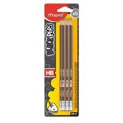 Maped grafitne olovke s gumicom BlackPeps, HB, 6 komada