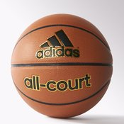 Adidas ALL COURT, lopta za košarku, crna
