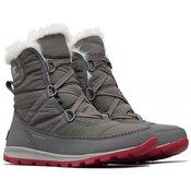 Sorel ženski zimski čevlji Whitney Short Lace Quarry Bright, sivi, 37