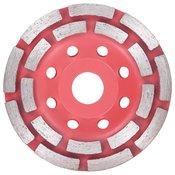 vidaXL Diamantni plošča za brušenje z dvema vrstama 115 mm