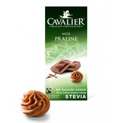 Čokolada mliječna PRALINE MILK sa stevijom i lješnjak kremom 85g