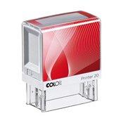 Štampiljka Colop Printer 20, črno-rdeče ohišje-vaš odtis v ceni (38x14mm)