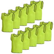 VIDAXL 10x rumena športna majica/dres za odrasle