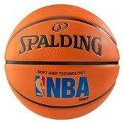 Spalding Nba Logoman Soft, košarkarska žoga, rjava