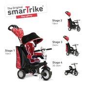 Smart Trike tricikl Chic - Black&Red