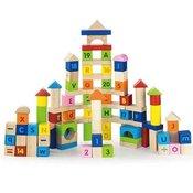 ?arene drvene kocke sa slovima i brojevima 100 komada
