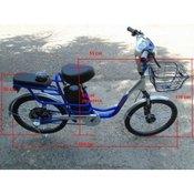 Elektricni bicikl Model B24 Plava