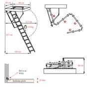 Meisterholz Mini tavanske stepenice 80x60 cm
