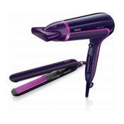 HP8640/50 Promocioni paket: fen i pegla za kosu