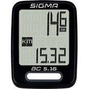 Sigma BC 5.16, brzinomjer za bicikl, crna