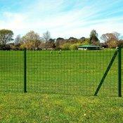 Set Euro ograda sa šiljcima za tlo 25x1,2 m celik zelena