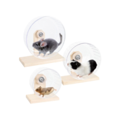 Karlie Bogie Wheel Plastic Rodent Wheel with Wooden Frame 27 cm Size L1030978