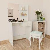 vidaXL Toaletni Stolic od Iverice 75x40x141 cm Bijeli