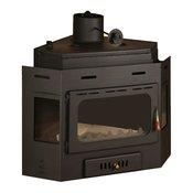 PRITY kamin sa kotlom za etažno grejanje A V16