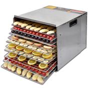 VIDAXL dehidrator za sušenje hrane od nehrdajuceg celika, 10 polica