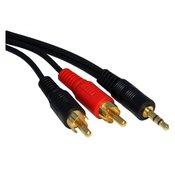 Kabl audio 3.5mm - 2xRCA 1.5m crni