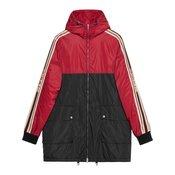 Gucci-Nylon coat with Gucci stripe-men-Red