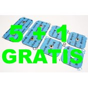 COMPEX velik XXL paket elektrod 5 + 1 GRATIS