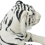 VIDAXL plišasta igrača Tiger XXL, bel