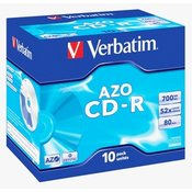 Verbatim CD-R DataLifePLUS Crystal AZO 52x, 10pcs in box 43327