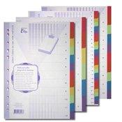Pregrada kartonska Elisa 22,5 x 29,7 cm (A4), 12-djelni, u bojama