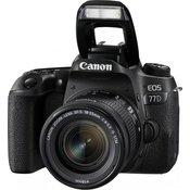 CANON D-SLR fotoaparat EOS 77D + 18-55 IS STM