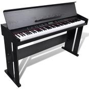vidaXL Elektricni klavir s držacem za note, 88 tipki