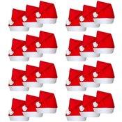 vidaXL 24 Božicne kape u stilu djeda mraza